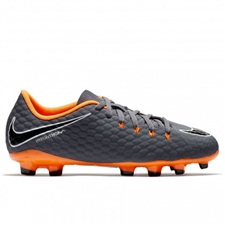 Nike Youth Hypervenom Phantom III Academy FG Soccer Cleats (Dark Grey/Total Orange/White)