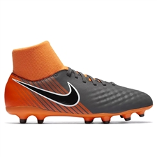 Nike Youth Magista Obra II Academy DF FG Soccer Cleats (Dark Grey/Black/Total Orange/White)