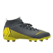 Nike Youth Superfly 6 Academy MG Soccer Cleats (Dark Grey/Black)