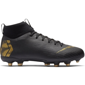 Nike Youth Superfly 6 Academy MG Soccer Cleats (Black/Metallic Vivid Gold)