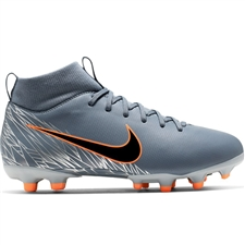 Nike Youth Superfly 6 Academy MG Soccer Cleats (Armory Blue/Black/Wolf Grey)