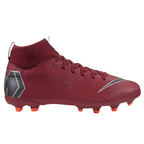 Nike Youth Superfly VI Academy MG Soccer Cleats (Team Red/Metallic Dark Grey/Bright Crimson)