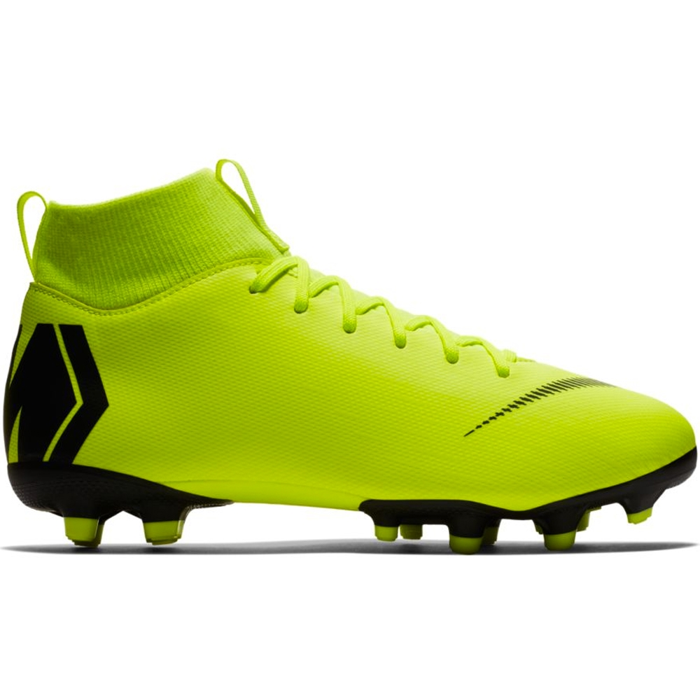 92afcef13a9 Nike Youth Superfly 6 Academy MG Soccer Cleats (Volt Black)