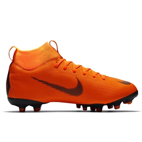Nike Youth Mercurial Superfly VI Academy FG / MG Soccer Cleats (Total Orange/Black/Volt)