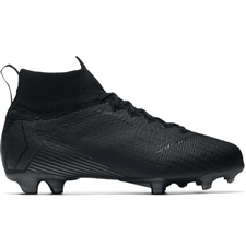 Nike Youth Superfly VI Elite FG Soccer Cleats (Black)