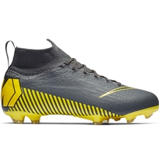 Nike Youth Superfly 6 Elite FG Soccer Cleats (Dark Grey/Black)