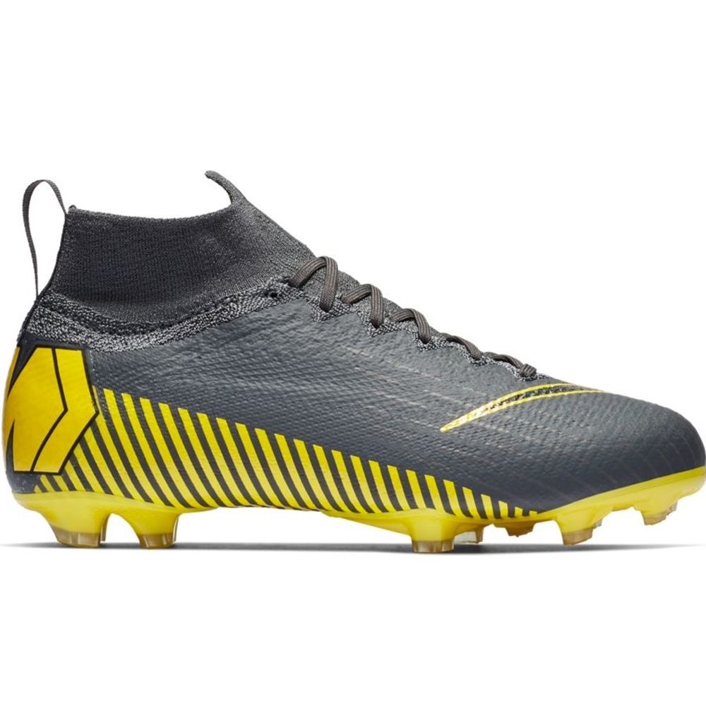 more photos 13b44 fb726 Nike Youth Superfly 6 Elite FG Soccer Cleats (Dark Grey/Black)