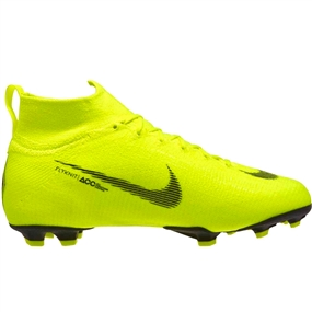 Nike Youth Superfly 6 Elite FG Soccer Cleats (Volt/Black)