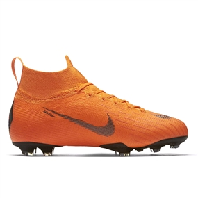 Nike Youth Mercurial Superfly VI Elite FG Soccer Cleats (Total Orange/Black/Volt)