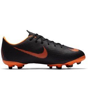 Nike Youth Mercurial Vapor XII Academy FG / MG Soccer Cleats (Black/Total Orange/White)