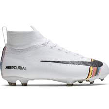 Nike Youth Superfly 6 Elite FG Soccer Cleats (White/Black/Pure Platinum)