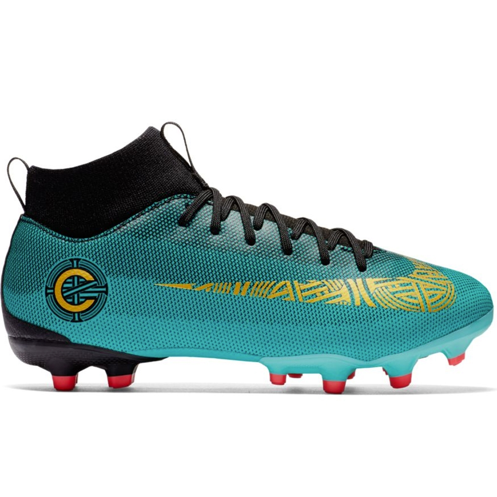 96bcd275d Nike Youth Superfly VI Academy CR7 FG MG Soccer Cleats (Clear Jade ...