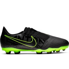 Nike Youth Phantom Venom Academy FG Soccer Cleats (Black/Volt)