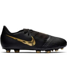 Nike Youth Phantom Venom Academy FG Soccer Cleats (Black/Metallic Vivid Gold)