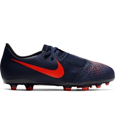Nike Youth Phantom Venom Academy FG Soccer Cleats (Obsidian/White/Black/Racer Blue)
