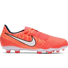 Nike Youth Phantom Venom Academy FG Soccer Cleats (Bright Mango/White/Orange Pulse)