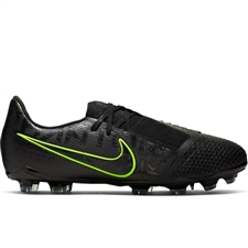 online store 0c824 e5bb6 Nike Youth Phantom Venom Elite FG Soccer Cleats (Black Volt)