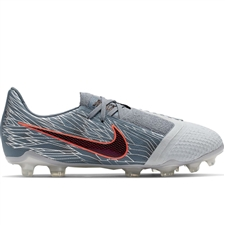 Nike Youth Phantom Venom Elite FG Soccer Cleats (Wolf Grey/Black/Armory Blue)