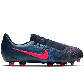Nike Youth Phantom Venom Elite FG Soccer Cleats (Obsidian/White/Black/Racer Blue)