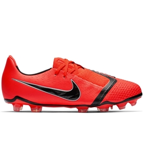 Nike Youth Phantom Venom Elite FG Soccer Cleats (Bright Crimson/Black)
