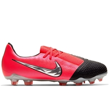 Nike Youth Phantom Venom Elite FG Soccer Cleats (Laser Crimson/Metallic Silver/Black)