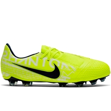 Nike Youth Phantom Venom Elite FG Soccer Cleats (Volt/Obsidian)