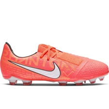 Nike Youth Phantom Venom Elite FG Soccer Cleats (Bright Mango/White/Orange Pulse)