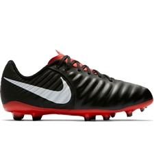Nike Youth Legend VII Academy FG Soccer Cleats (Black/Pure Platinum/Light Crimson)