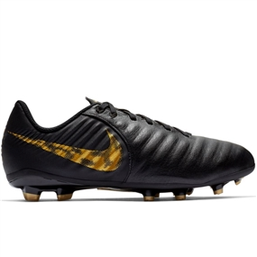 Nike Youth Legend 7 Academy FG Soccer Cleats (Black/Metallic Vivid Gold)
