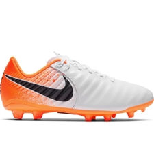 Nike Youth Legend 7 Academy FG Soccer Cleats (White/Black/Hyper Crimson)