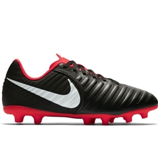 Nike Youth Legend VII Club MG Soccer Cleats (Black/Pure Platinum/Light Crimson)
