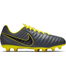 Nike Youth Legend 7 Club MG Soccer Cleats (Dark Grey/Opti-Yellow/Black)