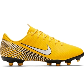 Nike Youth Neymar Vapor 12 Academy MG Soccer Cleats (Amarillo/White/Black)
