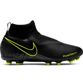 Nike Youth Phantom Vision Academy DF MG Soccer Cleats (Black/Volt)