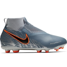 Nike Youth Phantom Vision Academy DF MG Soccer Cleats (Armory Blue/Black/Hyper Crimson)