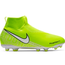 Nike Youth Phantom Vision Academy DF MG Soccer Cleats (Volt/White)
