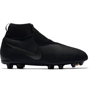 Nike Youth Phantom Vision Elite DF FG/MG Soccer Cleats (Black)