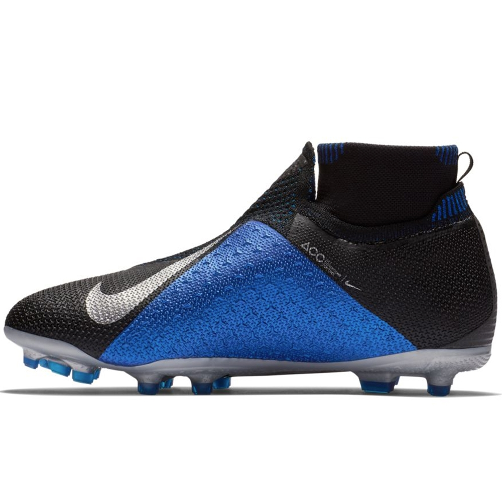 7c8d961fb Nike Youth Phantom Vision Elite DF FG MG Soccer Cleats (Black Metallic  Silver Racer Blue)