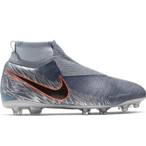 Nike Youth Phantom Vision Elite DF MG Soccer Cleats (Armory Blue/Black/Hyper Crimson)