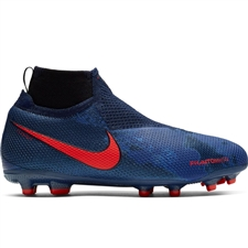 Nike Youth Phantom Vision Elite DF MG Soccer Cleats (Obsidian/Black/Blue Void)