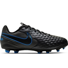 Nike Youth Legend 8 Academy MG Soccer Cleats (Black/Blue Hero)