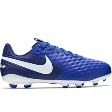 Nike Youth Legend 8 Academy MG Soccer Cleats (Hyper Royal/White/Deep Royal Blue)