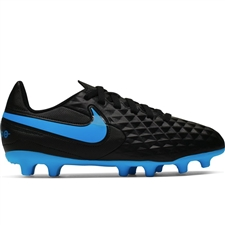 Nike Youth Legend 8 Club MG Soccer Cleats (Black/Blue Hero)