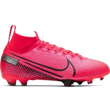 Nike Youth Mercurial Superfly 7 Elite FG Soccer Cleats (Laser Crimson/Black)
