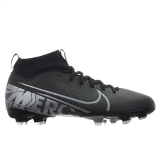 Nike Youth Superfly 7 Academy MG Soccer Cleats (Black/Metallic Cool Grey/Cool Grey)