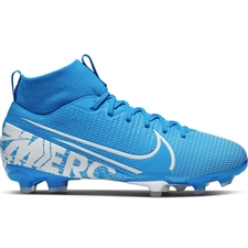 Nike Youth Superfly 7 Academy MG Soccer Cleats (Blue Hero/White/Obsidian)