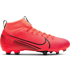 Nike Youth Mercurial Superfly 7 Academy MG Soccer Cleats (Laser Crimson/Black)