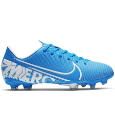 Nike Youth Vapor 13 Academy MG Soccer Cleats (Blue Hero/White/Obsidian)