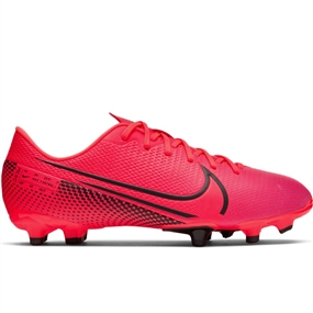 Nike Youth Mercurial Vapor 13 Academy MG Soccer Cleats (Laser Crimson/Black)
