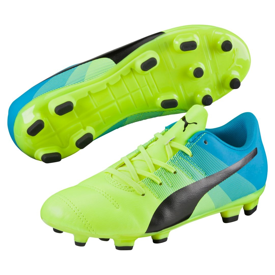 3b5c41d39aa  49.49 - Puma evoPOWER 4.3 Youth FG Soccer Cleats (Safety Yellow ...